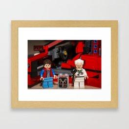 Where does the Flux Capacitor go? Framed Art Print