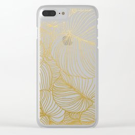 Wilderness Gold Clear iPhone Case