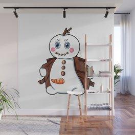 flashing snowman Flasher Present Winter Christmas Wall Mural