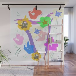 Vase Of Flowers, Abstract Wall Mural