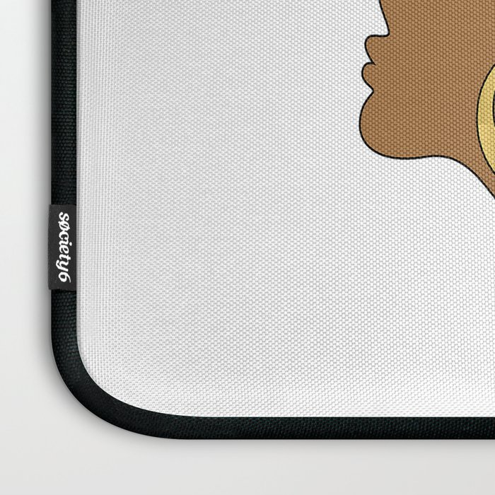 Black Girl Magic - Descendants of Queens and Kings Determined To Rise Faux Gold Afro Woman Laptop Sleeve