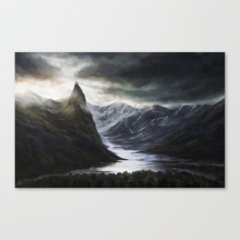 Ominous Mountains Canvas Print