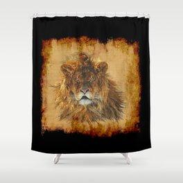 The Lion Papyrus - Big Cat Artwork Shower Curtain