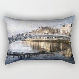 Ha'PPeny Bridge Rectangular Pillow