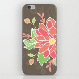 Dahlia with buds iPhone Skin