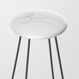 Love Hand Gesture Counter Stool