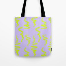Neon green pattern Tote Bag