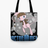 mew Tote Bags featuring Doctor Mew by Wuvwa