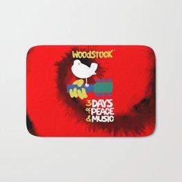 Woodstock 1969 (tie dye background) Bath Mat