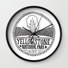 Yellowstone - Old Faithful Illustration Wall Clock