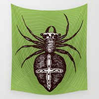 spider Wall Tapestries featuring Spider by Bwiselizzy