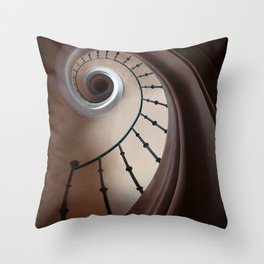 Pretty brown staircase Throw Pillow