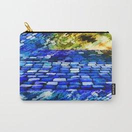 CobbleStone in Blue Oil Carry-All Pouch