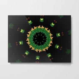 green leaves flake Metal Print