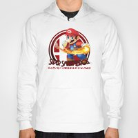 super smash bros Hoodies featuring Mario - Super Smash Bros. by Donkey Inferno