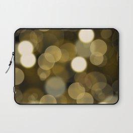 Abstract black gold color modern unfocused lights Laptop Sleeve