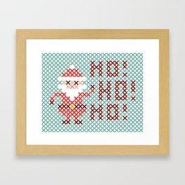 Stitched Santa X Framed Art Print