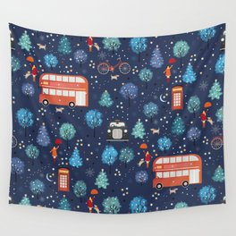 London Christmas Wall Tapestry