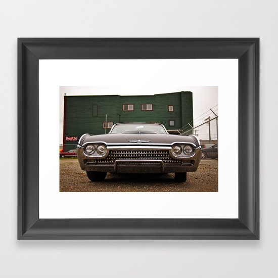 Ford Thunderbird closeup Framed Art Print