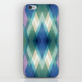 Abstract diamond crystals iPhone Skin