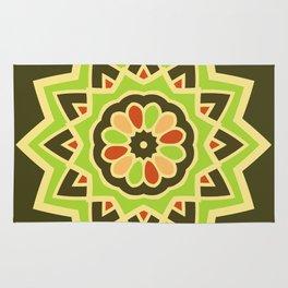 Groovy Green Mandala Spinning Round Rug
