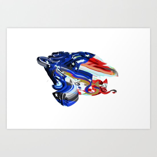 American Flag Study No. 7 Art Print