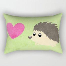 Hedgehog Love Rectangular Pillow