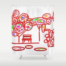 garth - garden pop colorful Shower Curtain