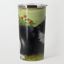 Black & White Kitty - Louis Wain Cats Travel Mug