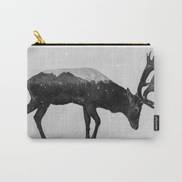 Red Deer (B&W) Carry-All Pouch
