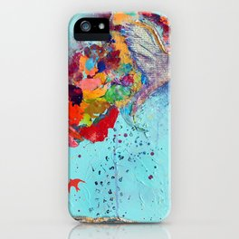 Flight by Letter by Nadia J Art iPhone Case