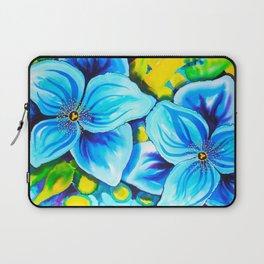 Blue Poppies 3 Laptop Sleeve