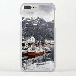Lofoten Islands, Norway Mountain Landscape Clear iPhone Case