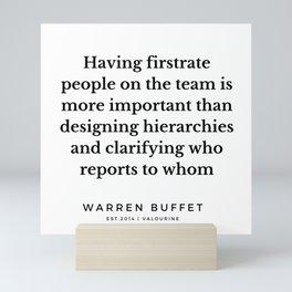 57   Warren Buffett Quotes   190823 Mini Art Print