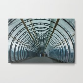 Urban Tunnel Metal Print