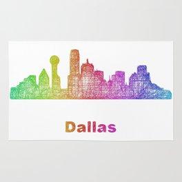 Rainbow Dallas skyline Rug