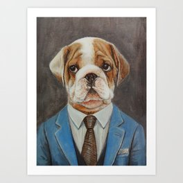 Mr.dog Art Print
