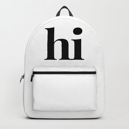 hi Backpack