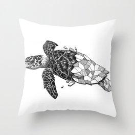 Glass Turtle Throw Pillow