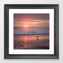 Sunset at Cannon Beach Oregon Framed Art Print