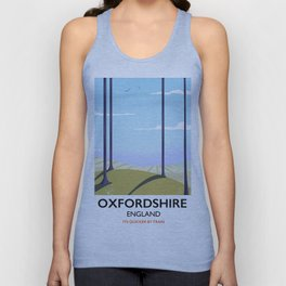 Oxfordshire vintage style travel poster Unisex Tank Top