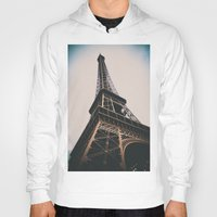 eiffel tower Hoodies featuring Eiffel Tower by Christine Workman