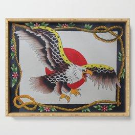 Eagle With Rope Border Serving Tray