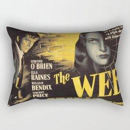 The Web, vintage horror movie poster Rectangular Pillow