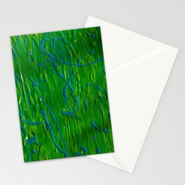 Painting Splatter - Green Mess Stationery Cards