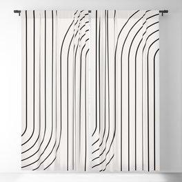 Minimal Line Curvature I Blackout Curtain