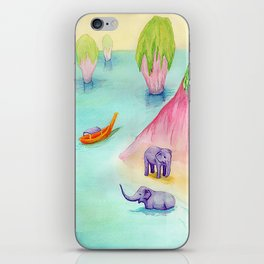 Thailand Travel Poster iPhone Skin