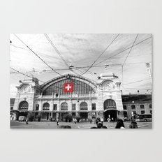 Swiss Flag Canvas Print