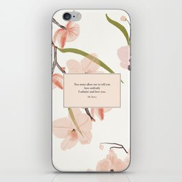 You must allow me...Mr. Darcy. Pride and Prejudice. iPhone Skin