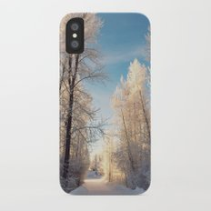 Let There Be Light - Frost Trees in Winter Slim Case iPhone X